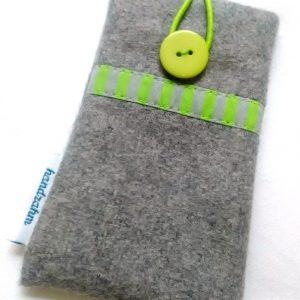 Handytasche – Streifen grün